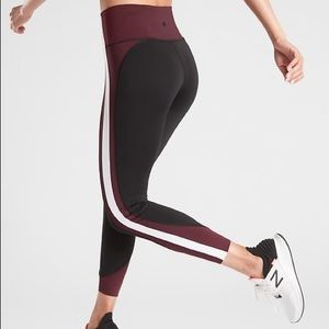 Athleta 7/8 Color Block Crunch Leggings